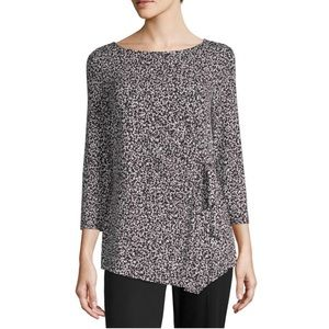 "NWT Liz Claiborne 3/4"" Sleeve Boatneck Tunic Top"